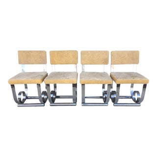 Chrome Steel Base Industrial Style Chairs - 4