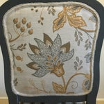 Image of Antique Yellow & Gray Stripe Chair