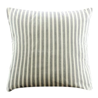 White Lurik Woven Striped Pillow
