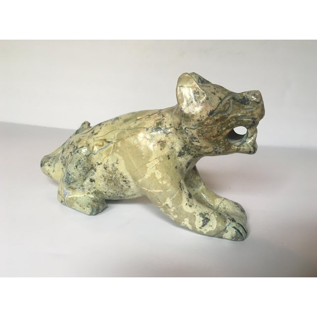 Carved Stone Guardian Lion - Image 3 of 9