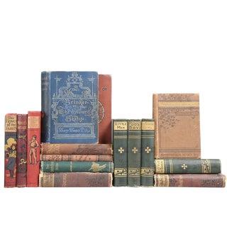 Antique Gilded Children's Books- Set of 15