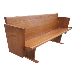 Mid-Century Modern Style Wooden Bench