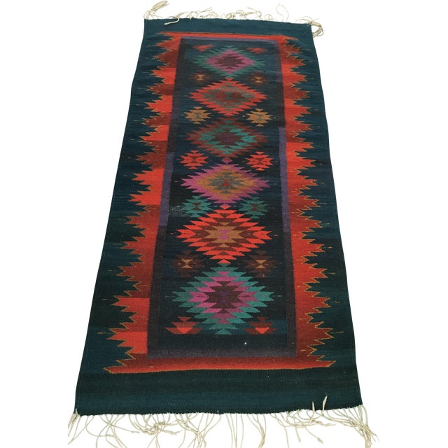 Vintage Handmade Reversible Navajo Arrows Rug - Image 1 of 8