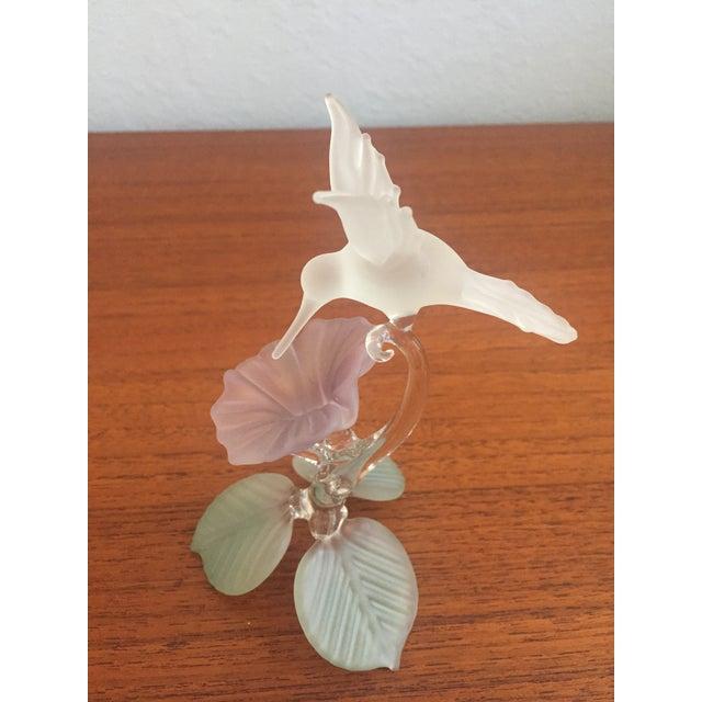 Hummingbird Blown Glass Figurine - Image 3 of 8