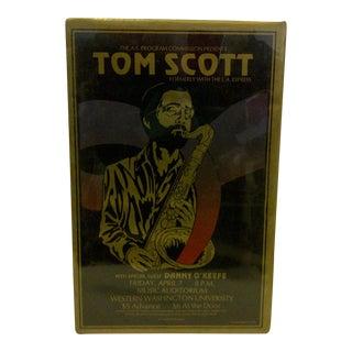 1978 Tom Scott Gold & Black Concert Poster