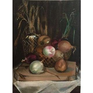 Oil on Canvas Still Life Onion Painting