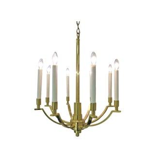 Elegant Frederick Cooper Solid Brass Chandelier