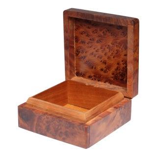 Mid-Century Burl Wood Box