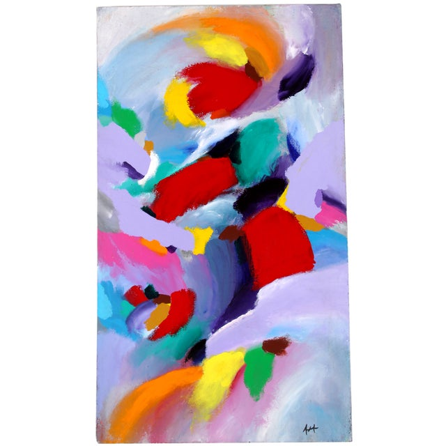 Image of Waves of Color Acrylic Painting
