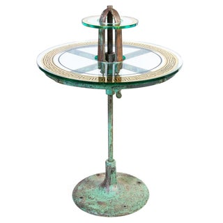 Industrial Two-Tier Bistro Table