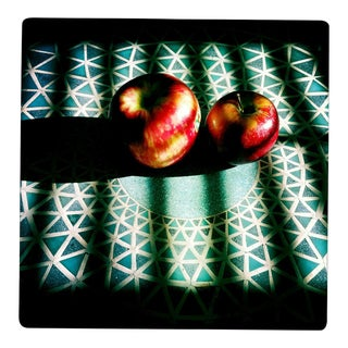 """Apples on Mosaic Table in Sunlight"" Original Photograph"