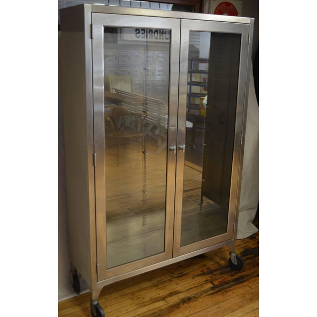 Lighted Two-Door Dental Apothecary Lab Cabinet - Image 4 of 10