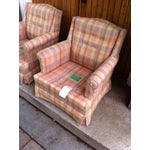 Image of Vintage Ethan Allen Club Chairs - A Pair