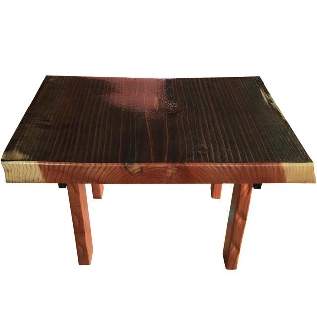 Rustic Redwood Coffee Table