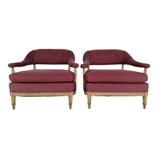 Mid-Century Bergere Chairs - A Pair