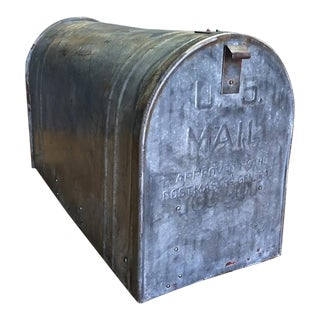 Vintage Distressed Metal Mailbox