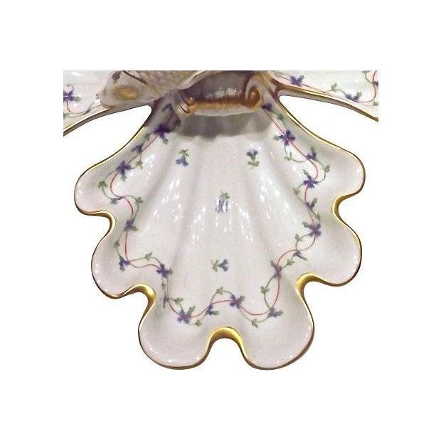Vintage Herend Porcelain Fish & Shell Serving Tray - Image 7 of 9