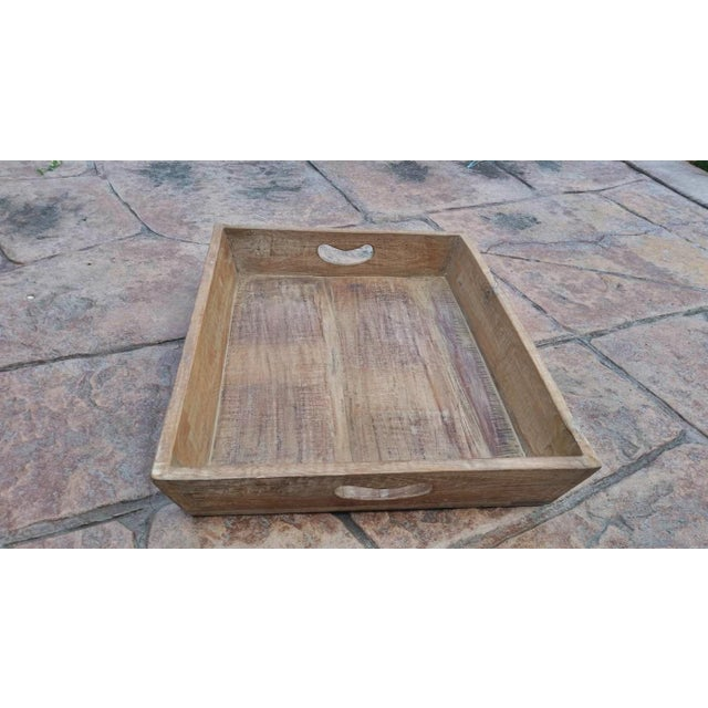 Image of Reclaimed Wood Primitive Style Large Serving Tray