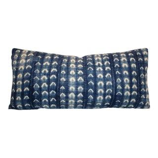 African Indigo Bolster Pillow