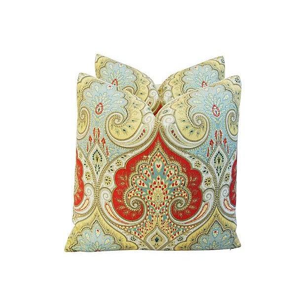 Custom Kravet Latika Festival Linen Pillows - Pair - Image 5 of 7