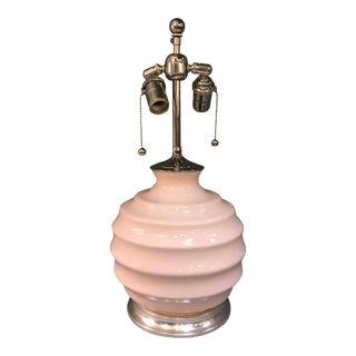 Christopher Spitzmiller Ribbed Blush Ball Lamp