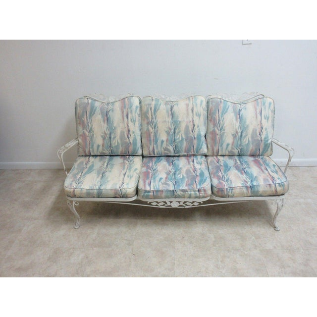 Vintage Outdoor Iron Sofa - Image 2 of 6
