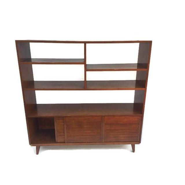 Mid century modern bookcase wall unit chairish - Modern bookshelf wall unit ...