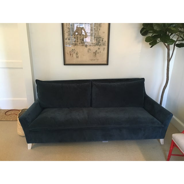 West Elm Bliss Sleeper Sofa In Velvet Chairish