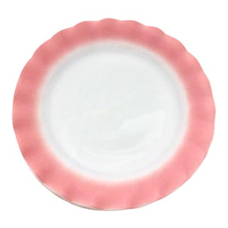 Hazel Atlas Glass Ripple Crinoline Pink Plates - Set of 10