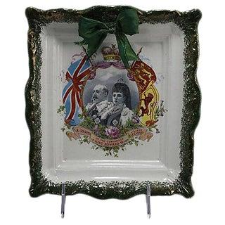 1910 King Edward VII Coronation Ceramic Plaque