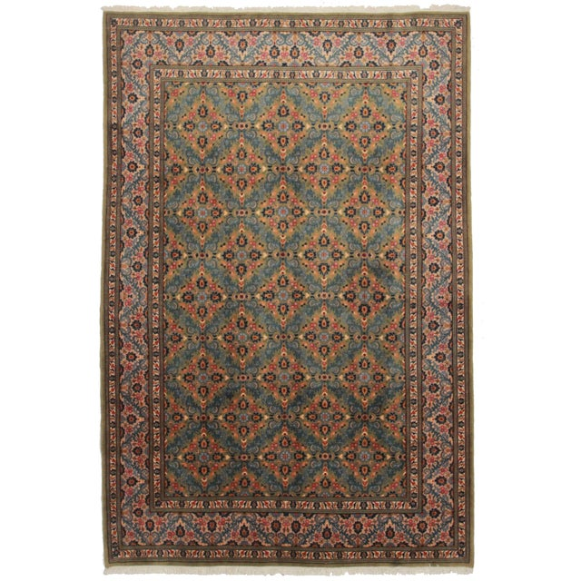 "Asian Style Persian Area Rug - 6'6"" x 9'10"" - Image 1 of 2"