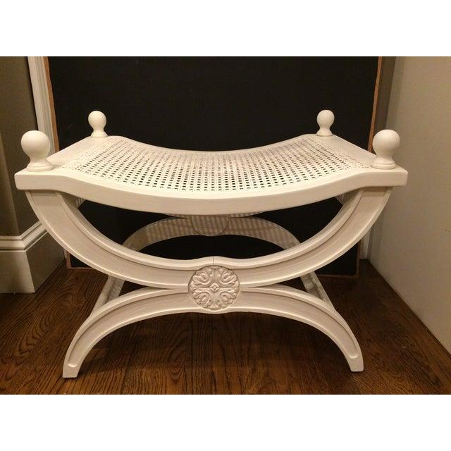 Hollywood Regency Dorothy Draper Ottoman X Bench Chairish