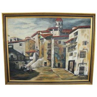 Mid-Century Spanish-Style Cityscape