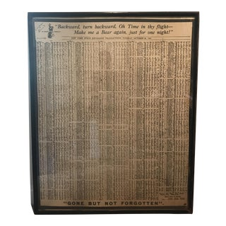 1929 Print of NY Stock Exchange Transactions