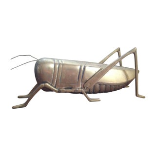 Large Brass Grasshopper Figurine