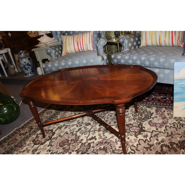 Inlay Oval Coffee Table