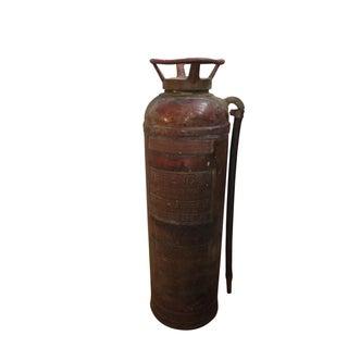 Vintage Bronze Fire Extinguisher