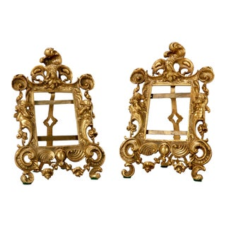 Antique French 19th-Century Bronze Frames - A Pair