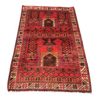 "Vintage Persian Baluchi Rug- 2'8"" x 4'4"""