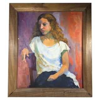 Painting Acrylic Canvas Frame Portrait of a Woman