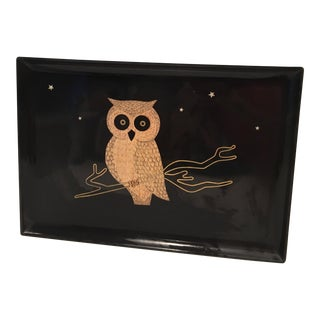 Vintage Couroc Owl Tray