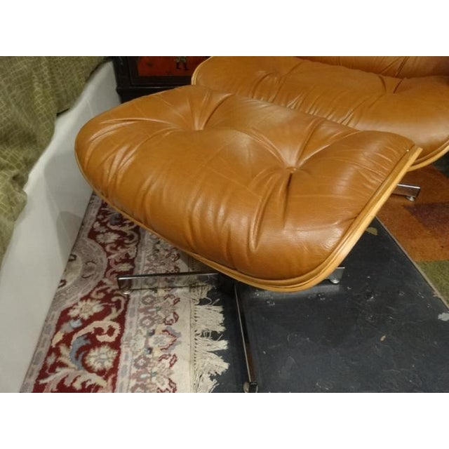 Eames Style Recliner and Ottoman - Image 5 of 6