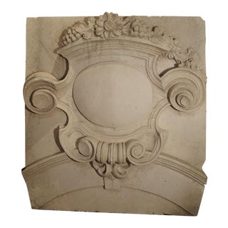 A Large Architectural Plaster Relief from France, 19th Century
