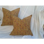 Image of Ochre Linen Pomegranite Orientalist Pillows - 2