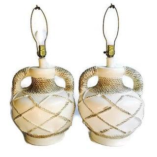Mid-Century Rams Horn Southwestern Lamps - pair