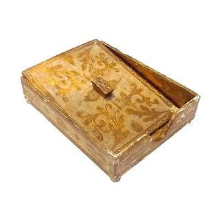 Vintage Florentine Desk Paper Storage Box