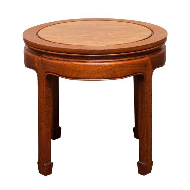 Table China: Chinese Ming Style Hardwood Round Side Table