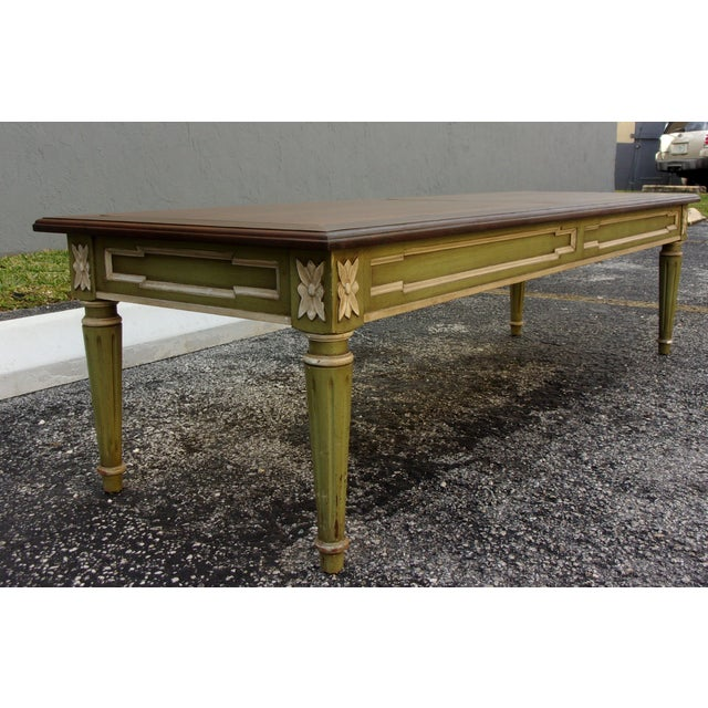Antique Coffee Tables Ireland: Vintage Walnut Top Distressed Coffee Table