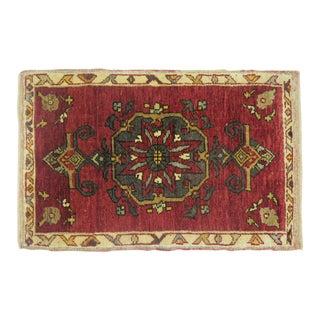 Vintage Turkish Rug 1'11'' x 3'