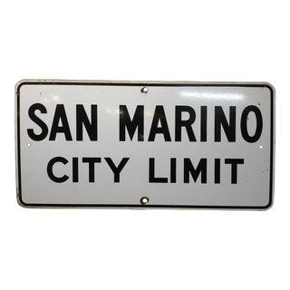 1930s San Marino City Limit